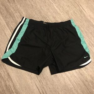 Nike Athletic Shorts Black and teal
